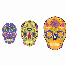 DWPK2250 Skulls Wall Art Kit by Brewster