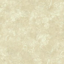 Cream/Beige/Taupe Floral Wallcovering by York