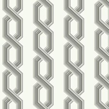 Variations Of Grey On White Geometrics Wallcovering by York