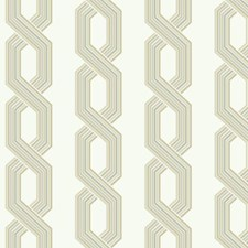 Variations Of Beige and Grey On White Geometrics Wallcovering by York