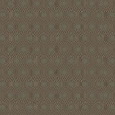 Dark Brown/Dark Grey/Light Brown Geometrics Wallcovering by York