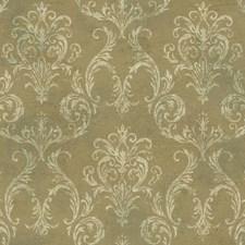 Gold/Cream/Dark Green Raised Prints Wallcovering by York