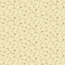 Soft Yellow Floral Mini Wallcovering by York