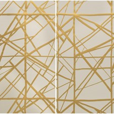 Copper/Beige Modern Wallcovering by Groundworks