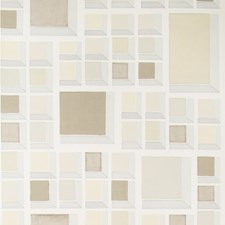 Almond/Ivory Modern Wallcovering by Groundworks