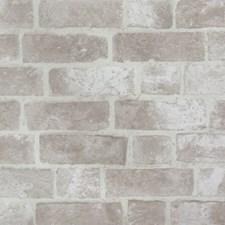 Bright White/Slate Gray Brick Wallcovering by York