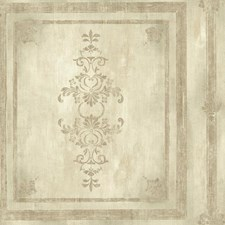 Cream/Silver/Taupe Bricks Wallcovering by York