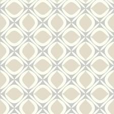 Grey/Beige/White Geometrics Wallcovering by York