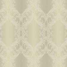 Silver/Cream Traditional Wallcovering by York