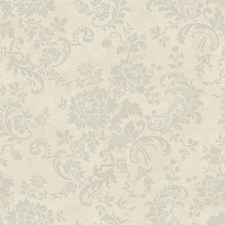 Silver/Pale Grey Floral Medium Wallcovering by York