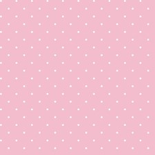 Blush Pink/Snow Dots Wallcovering by York