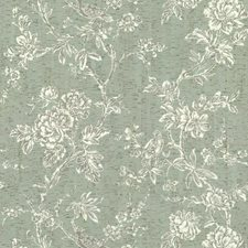 Greens/White/Off Whites Floral Wallcovering by York