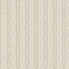 Soft Silver Pearl Metallic/Pale Cream/Soft Linen Beige Stripes Wallcovering by York