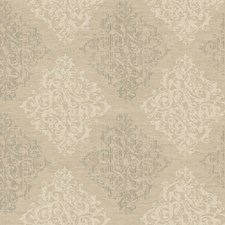 Deep Pearled Beige/Soft Sand Beige/Graphite Gray Damask Wallcovering by York