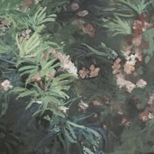 Charcoal/Green/Lavender Botanical Wallcovering by Kravet Wallpaper