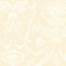 Ecru/White Neoclassic Wallcovering by York