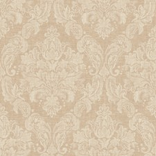 Muted Antique Gold/Warm Cream Damask Wallcovering by York