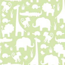 NU1392 Green Its A Jungle In Here Peel & Stick by Brewster