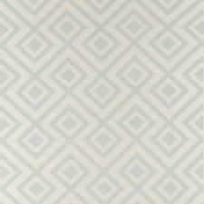 Aqua/Ivory Diamond Wallcovering by Lee Jofa Wallpaper