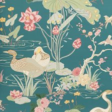Lagoon Botanical Wallcovering by Lee Jofa Wallpaper