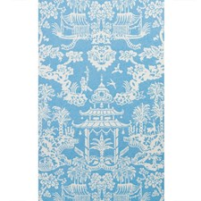 Aqua Asian Wallcovering by Brunschwig & Fils