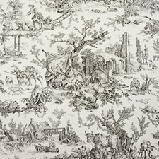 Charcoal Toile Wallcovering by Brunschwig & Fils