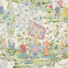 Ivory Print Wallcovering by Brunschwig & Fils