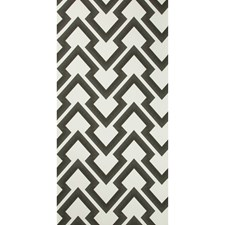 Charcoal Geometric Wallcovering by Brunschwig & Fils