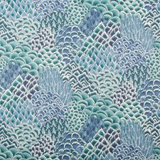 Turquoise Botanical Wallcovering by Brunschwig & Fils
