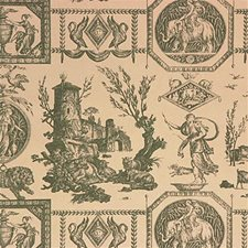 Green Toile Wallcovering by Lee Jofa Wallpaper