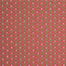 Cherry/Silver Geometric Wallcovering by Baker Lifestyle Wallpaper