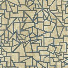 Cream/Beige/Medium Blue Bohemian Wallcovering by York