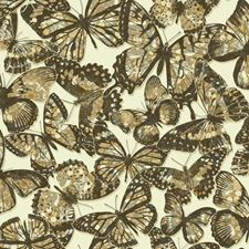 Cream/Black/Taupe Animals Wallcovering by York