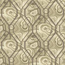 White/Light Taupe/Dark Taupe Malachite Wallcovering by York