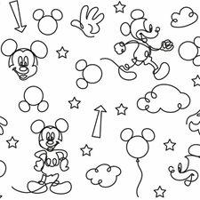 RMK11775RL Disney Mickey Mouse Line Art by York