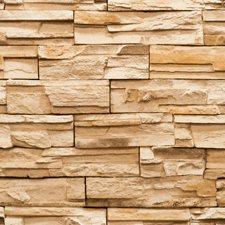 Rich Nutmeg Brown/Dark Mocha Brown/Tan Bricks Wallcovering by York