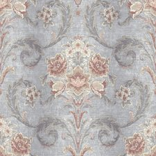 RW41102 Sophie Taupe Floral Scroll by Brewster
