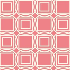 Coral/Cream Dots Wallcovering by York