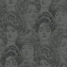 Metallic Gray/Black Novelty Wallcovering by York