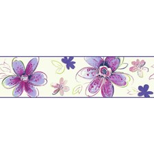 White/Purple/Magenta Children Wallcovering by York
