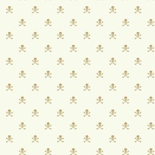 White/Metallic Gold Children Wallcovering by York