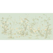 Pale Blue/Brown/Green Animals Wallcovering by York