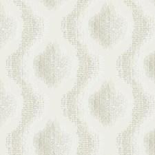 Iridescent Cream/White/Grey Weaves Wallcovering by York