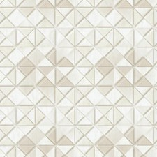 Cream/Beige/Warm Beige Geometrics Wallcovering by York