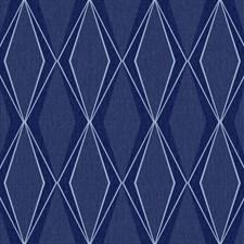 Navy/Dark Blue/Light Blue Geometrics Wallcovering by York