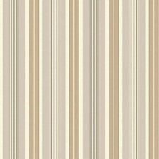 Cream/Grey/Tan Stripes Wallcovering by York