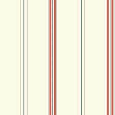 White/Orange/Navy Blue Stripes Wallcovering by York