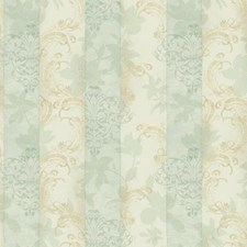 Beige/Aqua/Light Brown Stripes Wallcovering by York