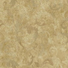 Gold/Taupe/Pewter Traditional Wallcovering by York