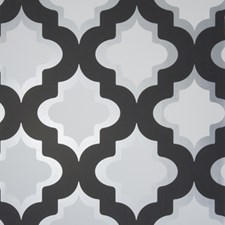 Black/White Medallion Wallcovering by Clarke & Clarke